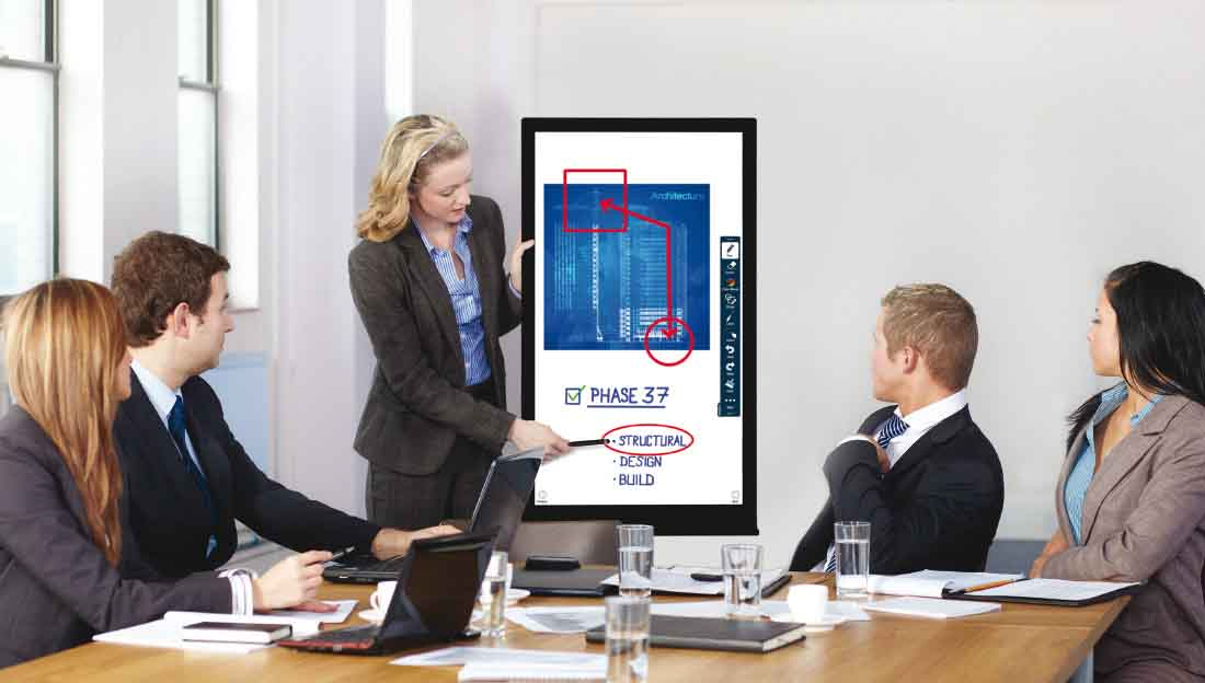presenting with touch screen