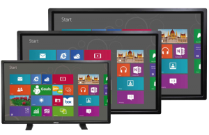 Touch experience with 4K resolution ships with and supports only Windows 10 for Content-Sharing