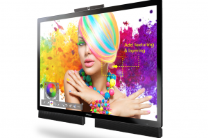 The extra large Mondopad Ultra with 85 inches and 4K resolution by InFocus for Content-Sharing