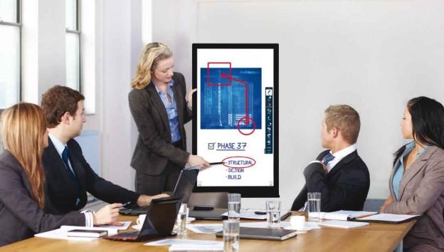 Präsentieren mit einem Touchscreen