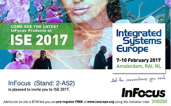 InFocus - l'Integrated Systems Europe 2017
