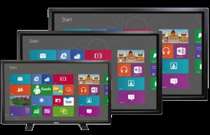 Touch-Erlebnis in 4K Auflösung ausgestattet mit Windows 10 Pro für optimales Content-Sharing