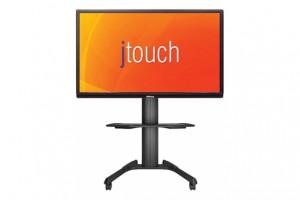 Ein 85 Zoll großes 4K-Touch-Display mit entspiegeltem Gorilla Glass™ für Content-Sharing