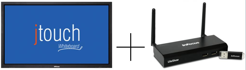 le tableau blanc et l'adaptateur InLiteShow 4